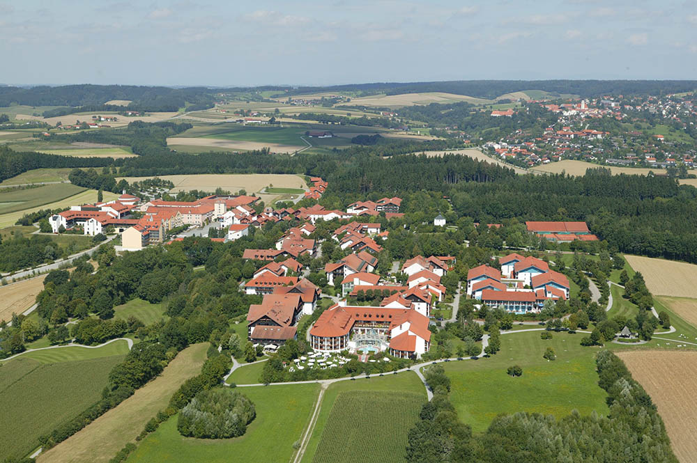 Bad Griesbach Luftbild Therme Altstadt